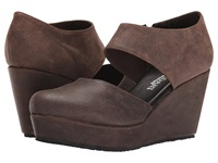 Cordani Fame Brown Vintage Leather Women's Wedge Shoes Mahogany