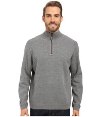 Tommy Bahama Reversible New Flip Side Pro 1 2 Zip Carbon Grey Heather Men's Clothing Gray