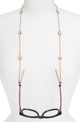 Women's L. Erickson 'Charmer' Eyeglass Chain Rose Peach Gold