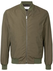 Gieves And Hawkes Zipped Fitted Jacket Green