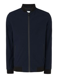 Linea Men's Kreft Seersucker Bomber Jacket Blue