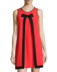 Cynthia Steffe Sleeveless Inverted Pleat Dress Red