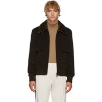 Fendi Brown Forever Fur Collar Jacket