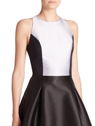 Sachin And Babi Noir Monet Satin Tank Top White Black