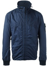 Stone Island High Neck Jacket Blue