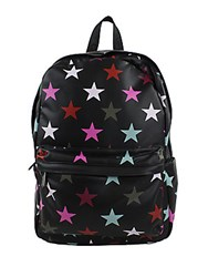 Sam Edelman Nora Star Print Faux Leather Backpack Black Multi