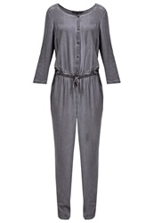 Tom Tailor Denim Jumpsuit Cosy Grey Taupe