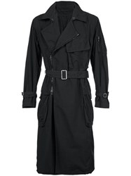 The Viridi Anne Belted Trench Coat Black