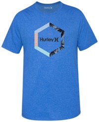 Hurley Men's Outlier Premium Graphic Print Logo T Shirt Heather Royal
