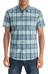 Quiksilver Men's Everyday Check Woven Shirt Stone Blue