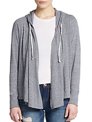 Candc California Draped Hooded Cardigan Heather Grey