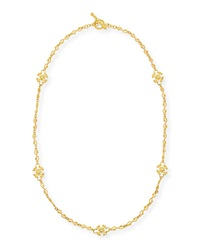 Aegean 18K Diamond Station Necklace Eli Jewels