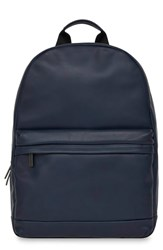 Knomo London Barbican Albion Leather Backpack Blue