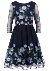 Chi Chi London Claire Cocktail Dress Party Dress Navy Dark Blue