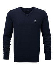 Henri Lloyd Men's Moray Regular V Neck Knit Jumper French Navy