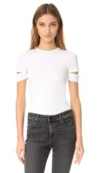 Helmut Lang Detached Short Sleeve Tee White