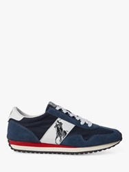 Ralph Lauren Polo Train 90 Trainers Newport Navy White