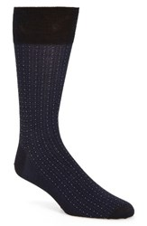 John W. Nordstromr Men's Big And Tall Nordstrom Pin Dot Socks Navy Blue