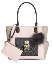 Betsey Johnson 2 In 1 Pin Tote With Pouch Only At Macy's Blush