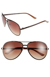 Women's Bcbgmaxazria 59Mm Aviator Sunglasses Brown