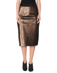 Roberto Collina Knee Length Skirts Bronze