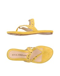 Luca Stefani Toe Strap Sandals Yellow
