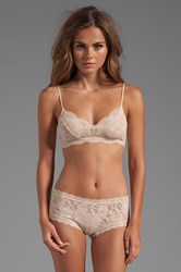 Eberjey India Lace Retro Bralet Beige