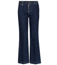Paige Milo Cropped Flared Jeans Blue