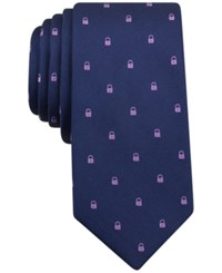 Bar Iii Men's Lock Neat Skinny Tie Only At Macy's Lilac