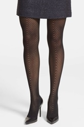 Vince Camuto Openwork Tights Black