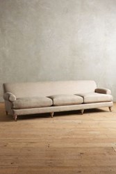 Anthropologie Linen Willoughby Grand Sofa Wilcox Driftwood