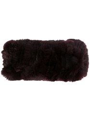 Yves Salomon Rabbit Fur Headband Brown