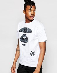 Aape By A Bathing Ape Black Camo Big Face Baisc T Shirt White