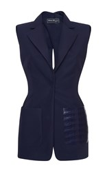 Salvatore Ferragamo Pocket Detail Tailored Vest Navy
