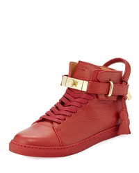 Buscemi 100Mm High Top Sneaker Red