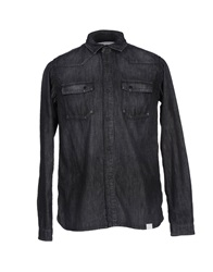 White Mountaineering Denim Shirts Black