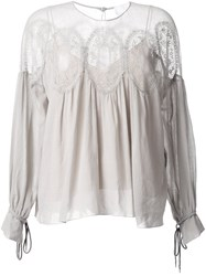 Chloe Gypsy Blouse Grey