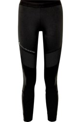 Adidas By Stella Mccartney Parley For The Oceans Performance Essentials Mesh Paneled Stretch Leggings Black