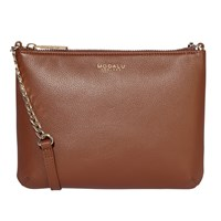 Modalu Twiggy Leather Across Body Bag Walnut
