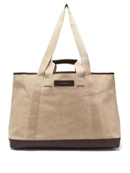 Want Les Essentiels Grantley Canvas Weekend Tote Bag Beige