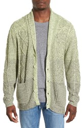 Men's Original Paperbacks 'Boston' Colorblock Mixed Knit Shawl Collar Cardigan