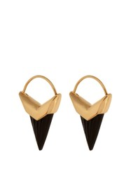 Theodora Warre Onyx And Gold Plated Earrings Black