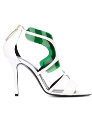 Pierre Hardy 'White Blue Green Shades' Sandals