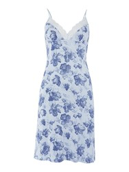 Linea Smoke Floral Chemise Light Blue