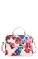Ted Baker London Expressive Pansy Faux Leather Tote