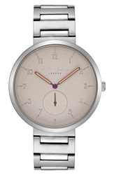 Ted Baker London Josh Bracelet Watch 42Mm White Stainless Steel