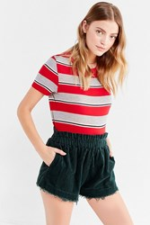 Urban Outfitters Uo Corduroy Pull On Frayed Short Dark Turquoise