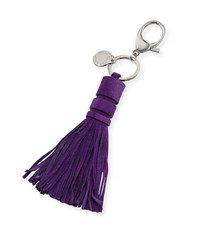 Suede Tassel Key Fob Bag Charm Purple Rebecca Minkoff