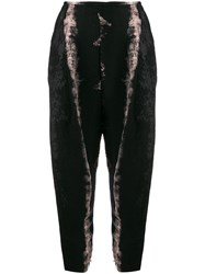Masnada Distressed Style Trousers Black