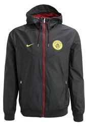 Nike Performance Manchester City Fc Tracksuit Top Black Team Red Optic Yellow